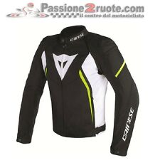 Jacket moto Dainese Avro D2 Tex black white yellow