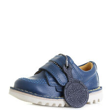 Kids Boys Kickers Lo Vel Infant Leather Dark Blue Shoes  Sz Size