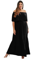 new off the shoulder ruffle evening maxi dress size available 16,18,20,22
