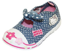 Girls Kids Hello Kitty Cartoon Character Canvas Casual Sandal Shoe 61459