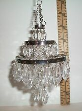 MINIATURE 1/6 SCALE FASHION DOLL  DOLLHOUSE HANGING BEAD CHANDELIER ACCESSORY