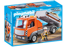 NEW and COMPLETE Playmobil City Action - Fletbed Workman's Truck 6861