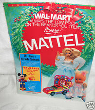 #8571 Walmart Mattel 1990 Holiday Toy Catalog 27 Pages