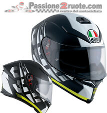 Casco integral Agv k-5 S Darkstorm mat black amarillo negro mate amarillo