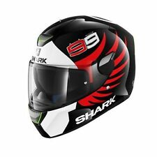Casco Shark Skwal Lorenzo blanco negro rojo black white red