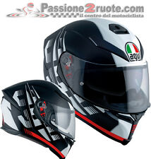 Casco integral Agv k-5 S Darkstorm mat black red negro mate rojo