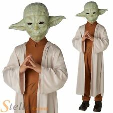 Boys Deluxe Yoda Costume Star Wars Halloween Fancy Dress Child Outfit