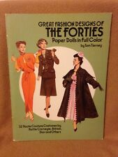 Paper Doll –  GREAT FASHION DESIGN OF THE FORTIES – Tom Tierney – 1987 - SC