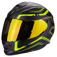 Casco Scorpion Exo 510 Radium negro mate amarillo fluo integral moto
