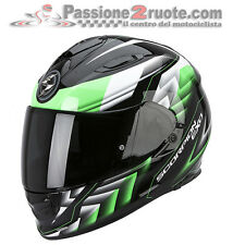 Casco Scorpion Exo 510 Escaleras negro mate verde integral moto