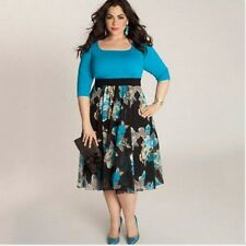 Plus Size Women's Long Sexy Beach Dress Formal Evening Party Cocktail Housewife