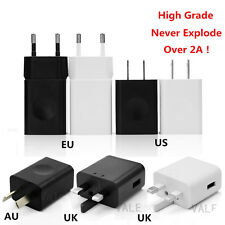 REAL Over 2A USB Wall Charge Travel Power Adapter Quick Fast Charger UK/US/AU/EU