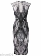 Alexander McQueen Fox Print Stretch Bodycon Pencil Dress BNWT UK M £925