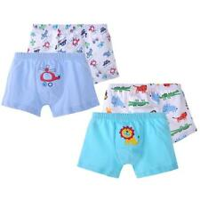 2pcs Cotton Kids Children Underwear Boxer Briefs Boys Cartoon Panties 3-8T Soft