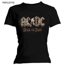 Official Ladies Skinny T Shirt ACDC Album  Rock or Bust All Sizes