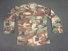 US ARMY WOODLAND CAMOUFLAGE  CAMO BDU SHIRT USED SMALL MEDIUM VINTAGE JACKET