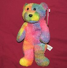 Avon January 2000 Full O' Beans Birthstone Rembrandt Bear Tie-Dye 8