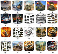 Military Lampshades Ideal To Match Tanks Wall Decals & Stickers & Tanks Duvets.