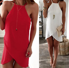 Choice 2 Colours Red or White Sexy Beach Bikini Summer Dress Cover Up Size 10-12