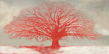 Alessio Aprile:Rouge Tree Toile sur cadre toile arbre solitaire rouge sapin