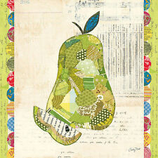 Courtney Prahl : Fruits Collage (III) - Pear Toile sur cadre