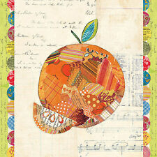 Courtney Prahl : Fruits collage IV - Orange Toile sur cadre toile fruits fruits