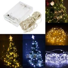 Battery Powered Copper Wire 20/30/50/100LED Christmas Outdoor String Fairy Light
