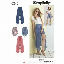 Misses Wrap Front Skirt and Shorts Beach Wear Simplicity Sewing Pattern 8343