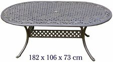 Fonte d'aluminium Table de jardin ovale 182x106cm Meuble De Jardin Table en