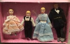 Dollhouse Miniature 4 Piece Victorian Porcelain Doll Family - NIB