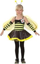Girls 4 Piece Bumble Bee Mini Beast Book Day Fancy Dress Costume Outfit 4-12yrs