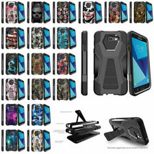 For Samsung Galaxy Perx (2017) Hybrid Dual Layer Kickstand Case - Unique Designs