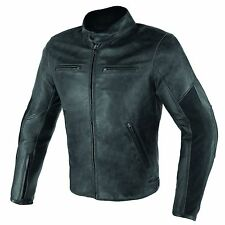 Giacca Giubbotto moto in pelle Dainese Stripes D1 nero black leather jacket