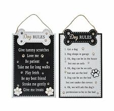 Doggie Pals Dog Rules Wall Plaque Choice of 2 Designs Each Sold Individually