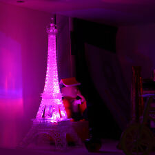 Romantic Eiffel Tower Color Changing LED Night Light Bedroom Home Decoration HT