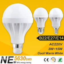 E27 B22 E14 Energy Save LED Bulb Light 3/5/7/9/12/15W Cool Warm White 220V Lamp