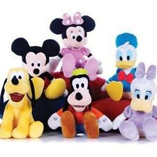 """Disney Soft Toys Mickey Mouse Minnie Donald Duck Pluto Plush Cuddly 8"""" New"""