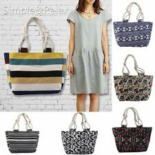 New Womens / Ladies Canvas Beach Tote Shoulder Bag / Shopping Bag / Handbag HT