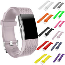 Sports Silicone Leather Replacement Watch Band Strap For Fitbit Charge2 Bracelet