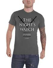 Game Of Thrones T Shirt The Nights Watch jon snow officiel Homme nouveau Gris