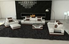 Couch Set Parma 3ER 2er Chair Sofa Set Seating Area Leather Sofa Sofa White