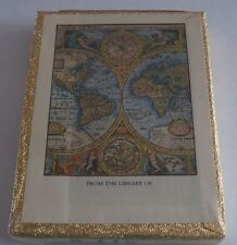 Vintage ANTIOCH 30 Bookplates Map of the World NEW in SEALED BOX Made in USA