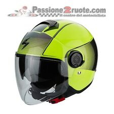 helmet jet moto scooter Scorpion Exo City Wind jaune fluo casque casque