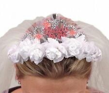 NEW Bride to Be Flashing Tiara Veil - Funny Hen Night Bride To Be Accessories