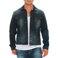 JACK & JONES Herren Jeans Jacke O ALAIN KNITTED DENIM Blue JC161009