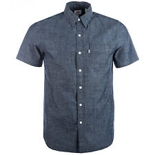 Men&Apos;S Levis Sunset Pocket Short Sleeve Shirt In Navy From Get The Label