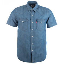 Men&Apos;S Levis Barstow Western Shirt In Blue From Get The Label