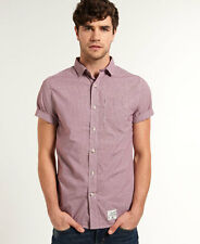 Superdry Hombre Camisa Laundered Summer Hounds Burgundy