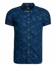Superdry Hombre Camisa London Loom Raw Hibiscus Wash