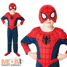 Reversible Spiderman Boys Fancy Dress Comic Book Superhero Kids Costume Outfit